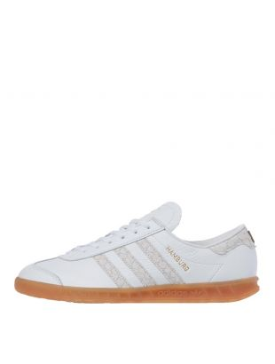 adidas Originals Hamburg Trainers | EF5673 White / Silver