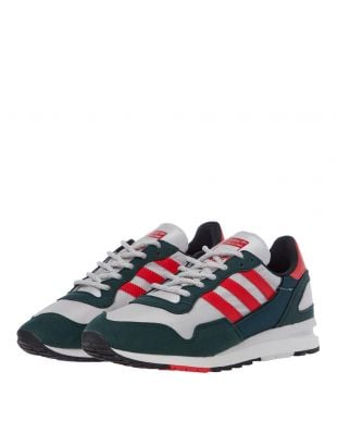 Lowertree Trainers - Green / Red / White