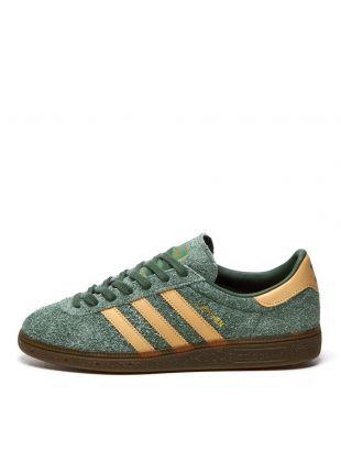 adidas Originals Munchen Trainers   FX5635 Green / Beige