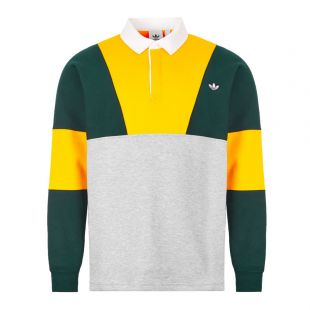adidas Rugby Shirt | FM2213 Yellow / Grey / Green