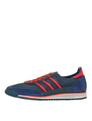 adidas Originals SL 72 Trainers | FV9783 Blue / Red