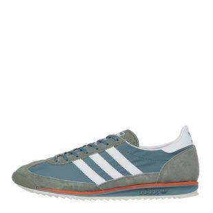 adidas Originals SL 72 Trainers | EG5198 Green / Orange / White