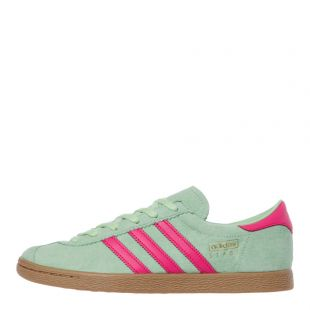 adidas Originals Stadt Trainers | EE5726 Green / Pink