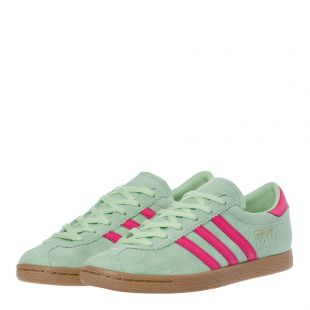 Stadt Trainers – Green / Pink