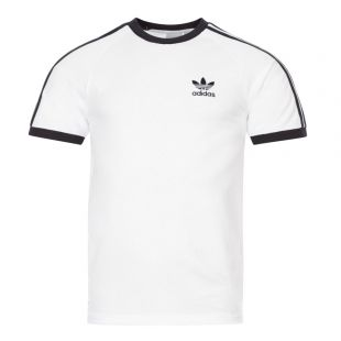 adidas Originals 3 Stripe T-Shirt | CW1203 White / Black