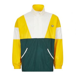 Adidas Track Top| Yellow Green and White FM2202