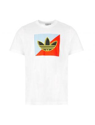 adidas T-Shirt Diagonal Logo | FM3389 White