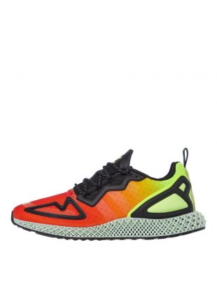 adidas ZX 2K 4D Trainers | FV9028 Orange / Yellow / Black