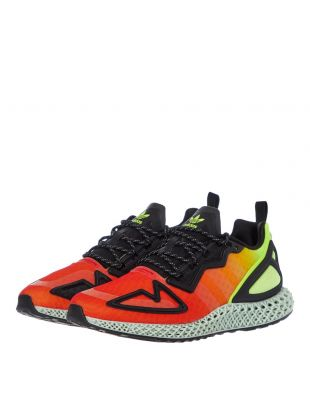 ZX 2K 4D Trainers - Orange / Yellow / Black