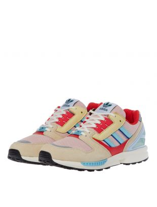 ZX 8000 Trainers - Pink / Aqua / Yellow