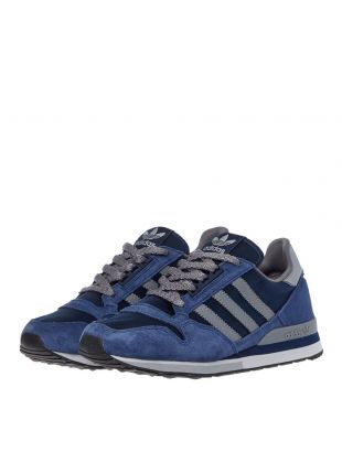 ZX 500 Trainers - Navy / Grey