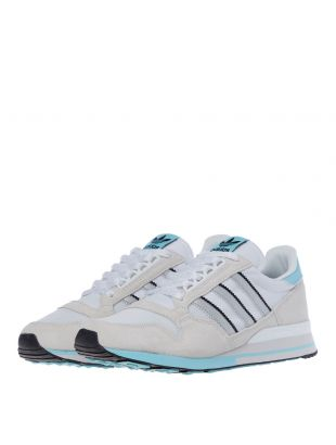 ZX 500 Trainers - White / Silver