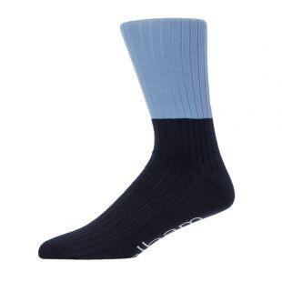 Socks Colour Blocked - Blue / Navy