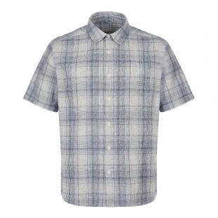 Albam Short Sleeve Shirt | ALM511403219 072 Blue / White