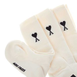 3 Pack Socks - Off White