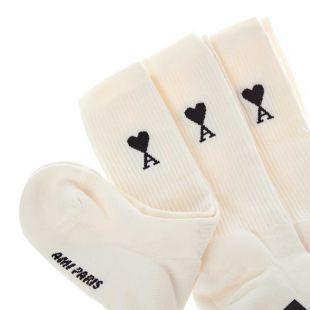 3 Pack Socks - Off White