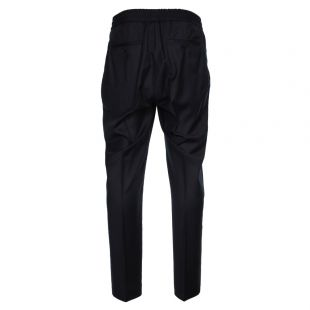 Elasticated Carrot Fit Trousers - Navy