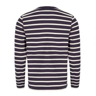 Long Sleeve T-Shirt – Off White / Navy
