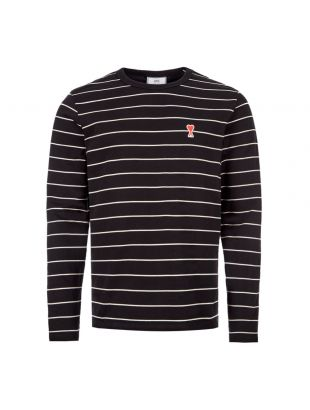 AMI T-Shirt Long Sleeve | E20HJ10708 012 Black Stripe