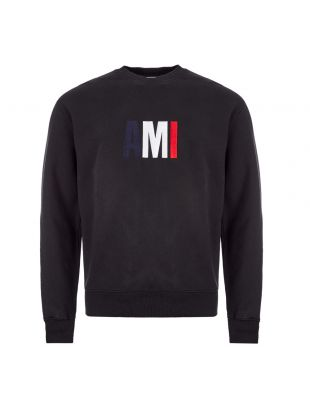 ami logo sweatshirt E0HJ003 730 001 black