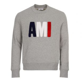 ami sweatshirt tricolour BSRJ0270 055 heather grey