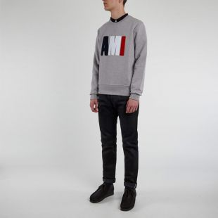 Sweatshirt Tricolour - Heather Grey