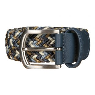 Anderson's Belts Woven Belt BO667-AF2620-NE41-121 In Blue / Brown