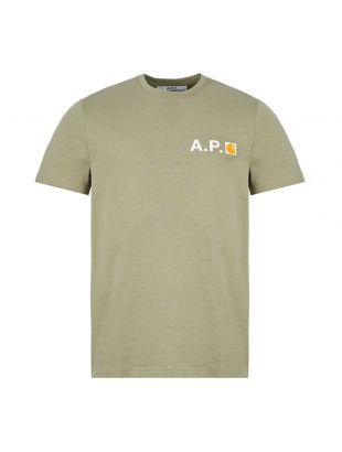 APC Carhartt WIP T-Shirt Logo   COECZ H26888 JAA Khaki