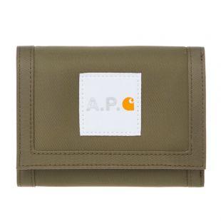 apc carhartt wip wallet PAACL M63362 khaki