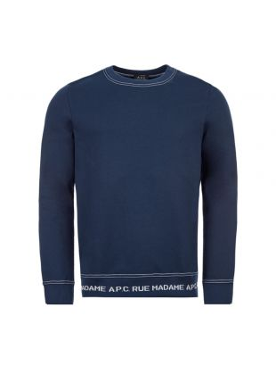 APC Sweatshirt CIECP|H27568|IAK In Dark Navy At Aphrodite Clothing