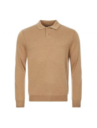 apc long sleeve polo shirt jerry WVAWM H23593 PBC beige