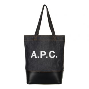 A.P.C. Logo Tote Bag COCMK H61229 Denim / Navy