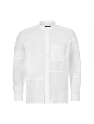 APC Collarless Shirt COECK|H12442|AAB In White At Aphrodite1994