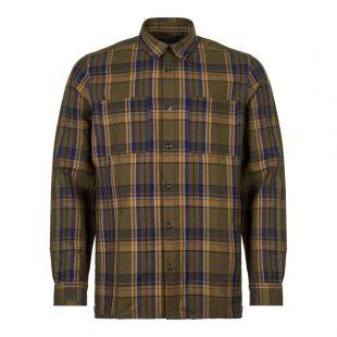 APC Shirt Achille COCWM H12384 JAC Khaki/Blue