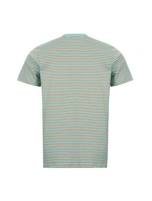 T-Shirt - Camel / Green Striped