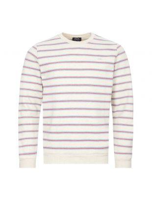 APC Sweatshirt | COECS H27574 PAA Ecru / Stripe