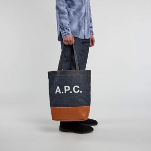 Tote Bag - Denim / Caramel