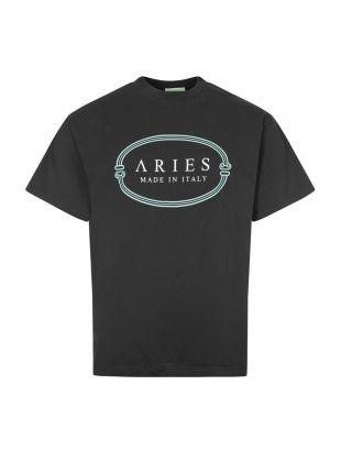 aries miit logo t-shirt FRAR60003 BLACK black