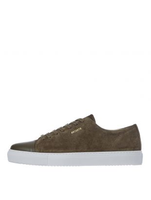 Cap Toe Trainers - Military Green