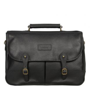 barbour briefcase black leather uba0011bk11