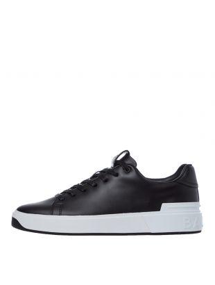 balmain b court trainers UM1C226LASC EAB black