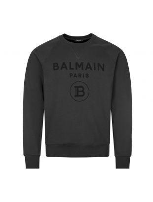 Sweatshirt Flock Logo - Black