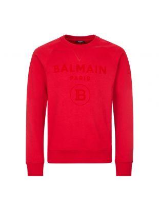 Sweatshirt Flock Logo - Red