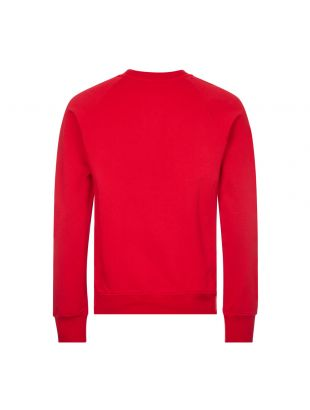 Sweatshirt Flock Logo - Red