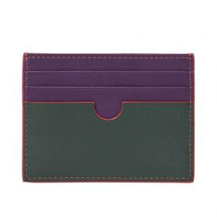Card Holder -  Dark Green / Purple