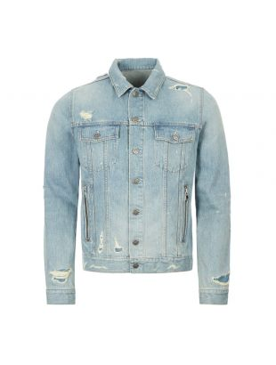 balmain denim jacket TH18640Z101 6AA blue