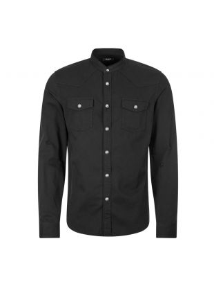 Balmain Denim Shirt | UH12326 Z061 Black
