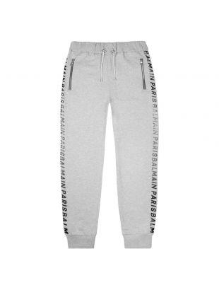 Balmain Joggers Foil Print | UH05554I382 9UB Grey | Aphrodite