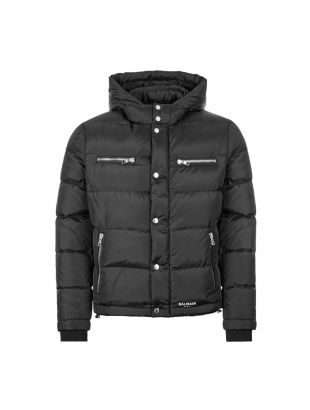 balmain down jacket TH18677 X071 OPA black
