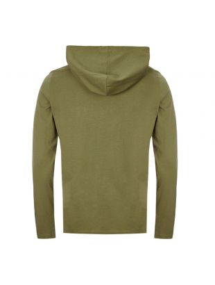 Long Sleeve Hooded T-Shirt - Olive